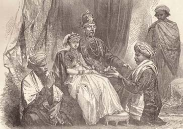 Chikka Veerarajendra - The Last King of Coorg with the princess Gowramma