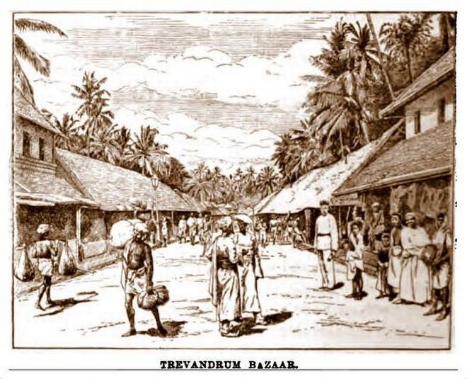 ஆரியசாலை திருவனந்தபுரம் பழைய சித்திரம்