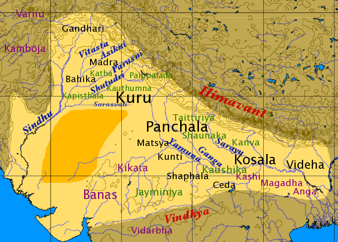 ancient india 3200BC map dwapara yuga