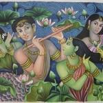 LORD-KRISHNA-RADHA-HANDMADE-Modern-Oil-Painting-Hindu-Religious-God-Goddess-Art-200827235978