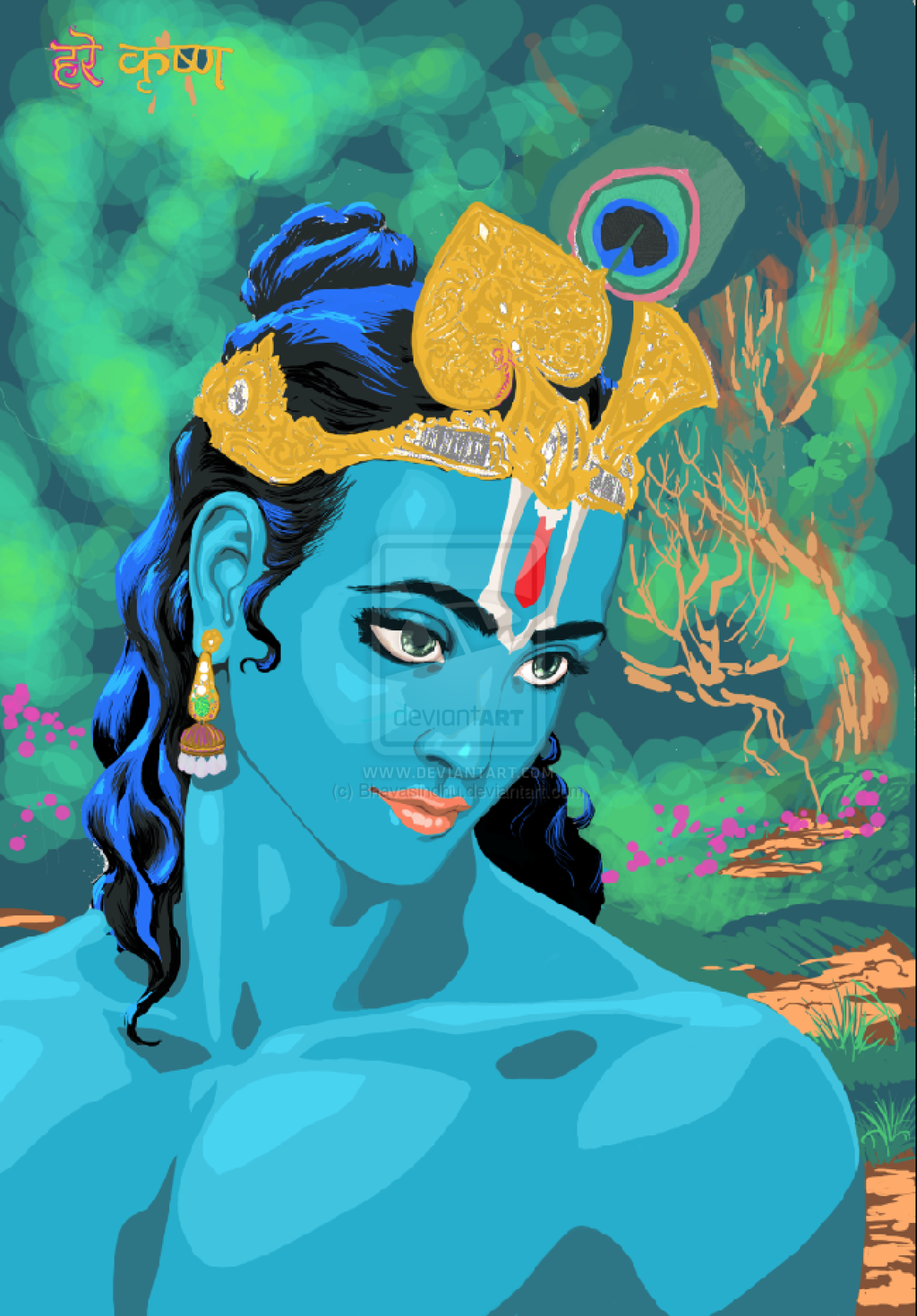 photoshop_of_sketch_of_shri_krishna_by_bhavasindhu-d7mb9bh
