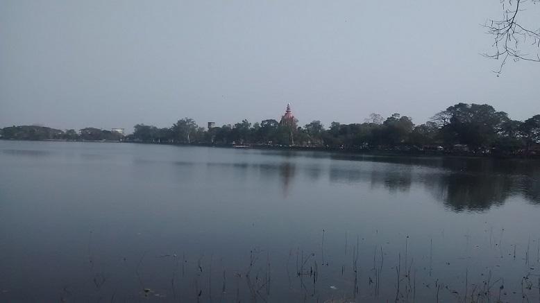 sivasagar-temple lake view