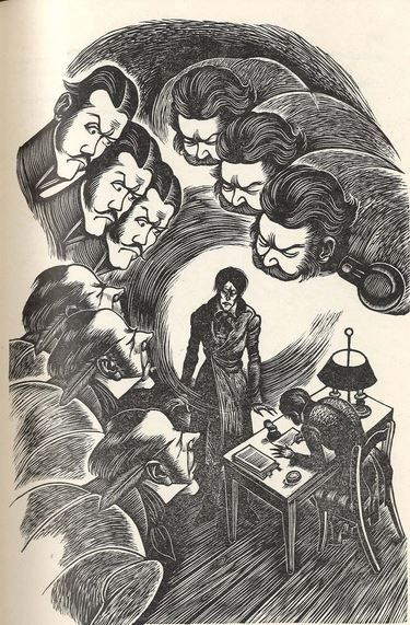 Fritz Eichenberg's   1938 woodcut illustrations for Crime and Punishment.